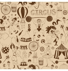 Retro seamless circus background pattern vector