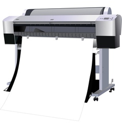 The printer industrial vector