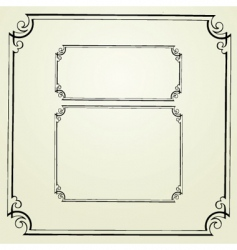 Swirl frames vector