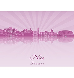 Nice skyline in purple radiant orchid vector