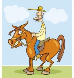 Funny horseman vector