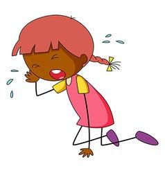 Girl crying vector