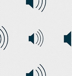 Volume sound icon sign seamless pattern with vector