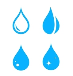 Blue isolated droplet set vector