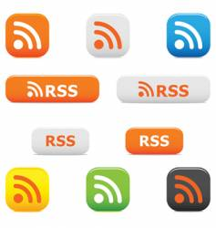 Rss buttons and symbols vector