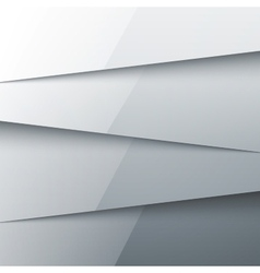Grey shiny metal layers abstract background vector