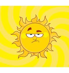 Lowering sun shining vector