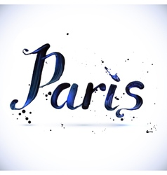 Paris calligraphy design vector