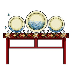 Plates at the china shop vector