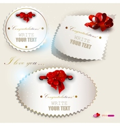 Gift label set vector