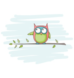 Owl sitting vector