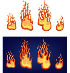 Red flame set vector