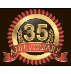 Anniversary heraldry ribbon vector