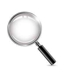 Metal magnifying glass for you design vector