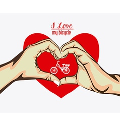 Love heart desing vector