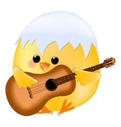 Chick with guitar vector