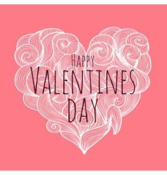 Valentines day decorative card vector