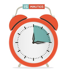 Fifteen minutes stop watch - alarm clock vector