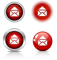 E-mail buttons vector