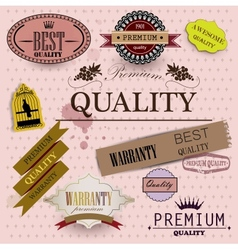 Set of superior quality vector