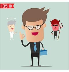 Business man select choice - - eps10 vector