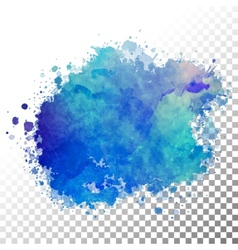 Abstract watercolor painted blot vector