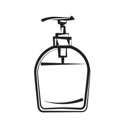 Soap dispenser freehand drawing vector