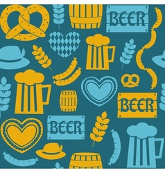 Seamless repeat oktoberfest party pattern vector