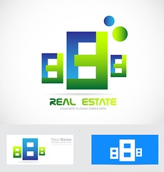 Real estate abstract buildings logo icon vector