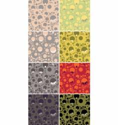 Seamless circles pattern set vector