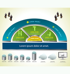 Info graphic for business vector