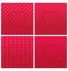 Geometric hearts set vector