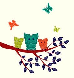 Set of decorative owls vector