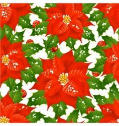 Christmas flowers vector