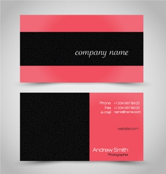 Business card set template red coral color vector