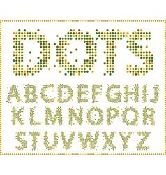Halftone alphabet full set vector