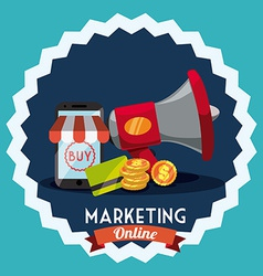 Marketing online vector