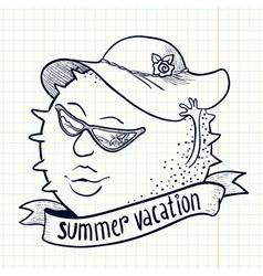 Sun girl character vector