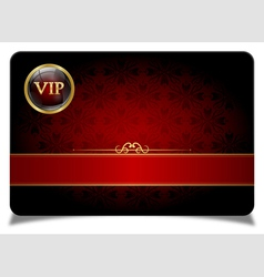 Red vip card vector