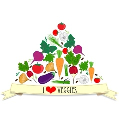 Vegetables card vector