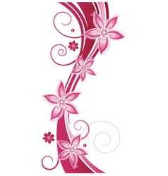Tendril floral elements vector