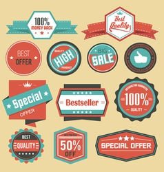 Retro sale badges vector