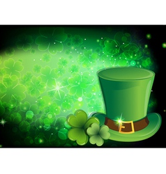 Leprechaun hat and clover vector
