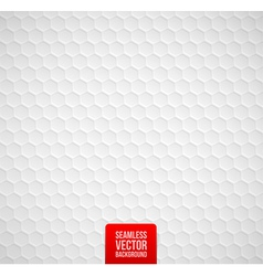 Hexagons seamless white background vector