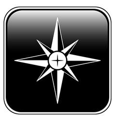 Compass button vector