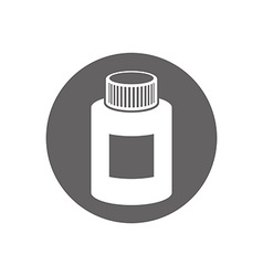 Medical bottle icon isolated vector
