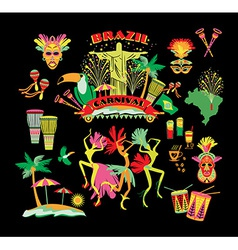 Traditional brazilian carnival vector