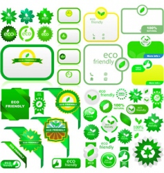 Eco elements vector