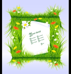 Letter in grass vector