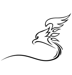 Eagle tattoo tribal vector